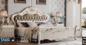 Kamar Tidur Set Mewah Putih Duco Italian Style Ukir Jepara Terbaru