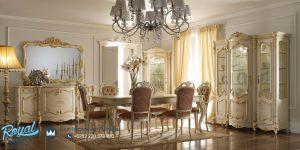 Set Meja Kursi Makan Mewah Victorian Ukir Royal