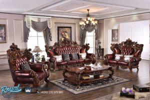 Set Sofa Tamu Jati Ukir Jepara Klasik Royal Jumbo Terbaru