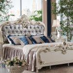 Set Tempat Tidur Modern Mewah Ukir Jepara Putih Duco Terbaru