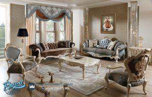 Set Kursi Sofa Tamu Mewah Ukiran Jepara Turkys Terbaru