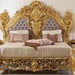 Set Kamar Tidur Mewah Klasik Gold Ukiran Jepara Sehrazat