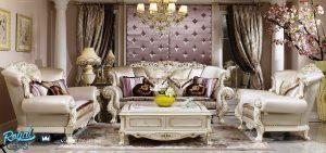 Set Kursi Sofa Tamu Mewah Terbaru Ukir Klasik Jepara
