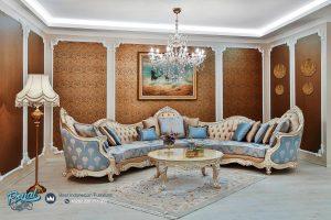 Sofa Ruang Tamu Santai Klasik Mewah Leonardo Ukiran Jepara Terbaru