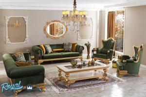 Sofa Tamu Mewah Ukiran Jepara Gold Klasik Terbaru