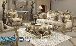 Sofa Ruang Tamu Mewah Klasik Jepara Homey Design Gold