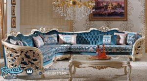 Sofa Tamu Mewah Sudut Klasik Leter L Berguzar