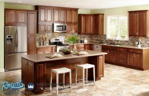 Kitchen Set Kayu Jati Jepara American Design Terbaru