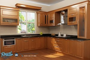 Kitchen Set Kayu Jati Minimalis Model Terbaru