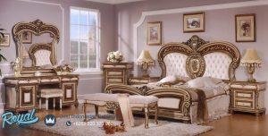 Kamar Tidur Set Mewah Klasik Eropa Ukiran Jepara Terbaru
