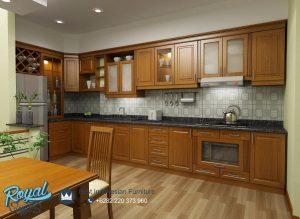 Kitchen Set Kayu Jati Minimalis Jepara Terbaru