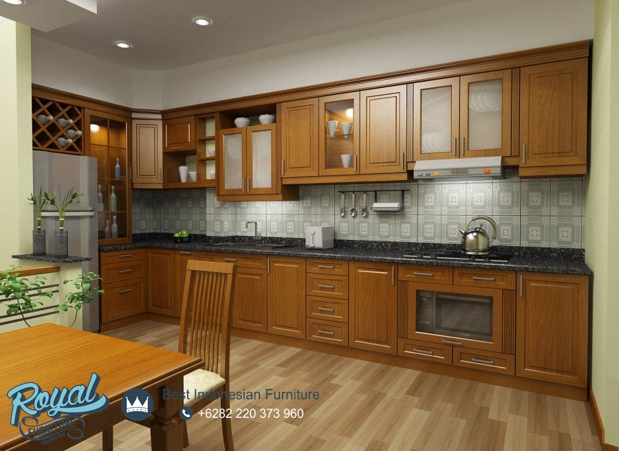 Kitchen Set Kayu Jati Minimalis Jepara Terbaru Royal Furniture