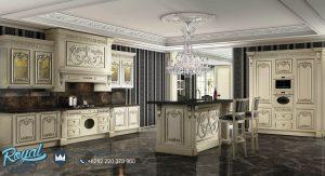 Kitchen Set Model Terbaru Kayu Ukiran Jepara Putih Italian Style