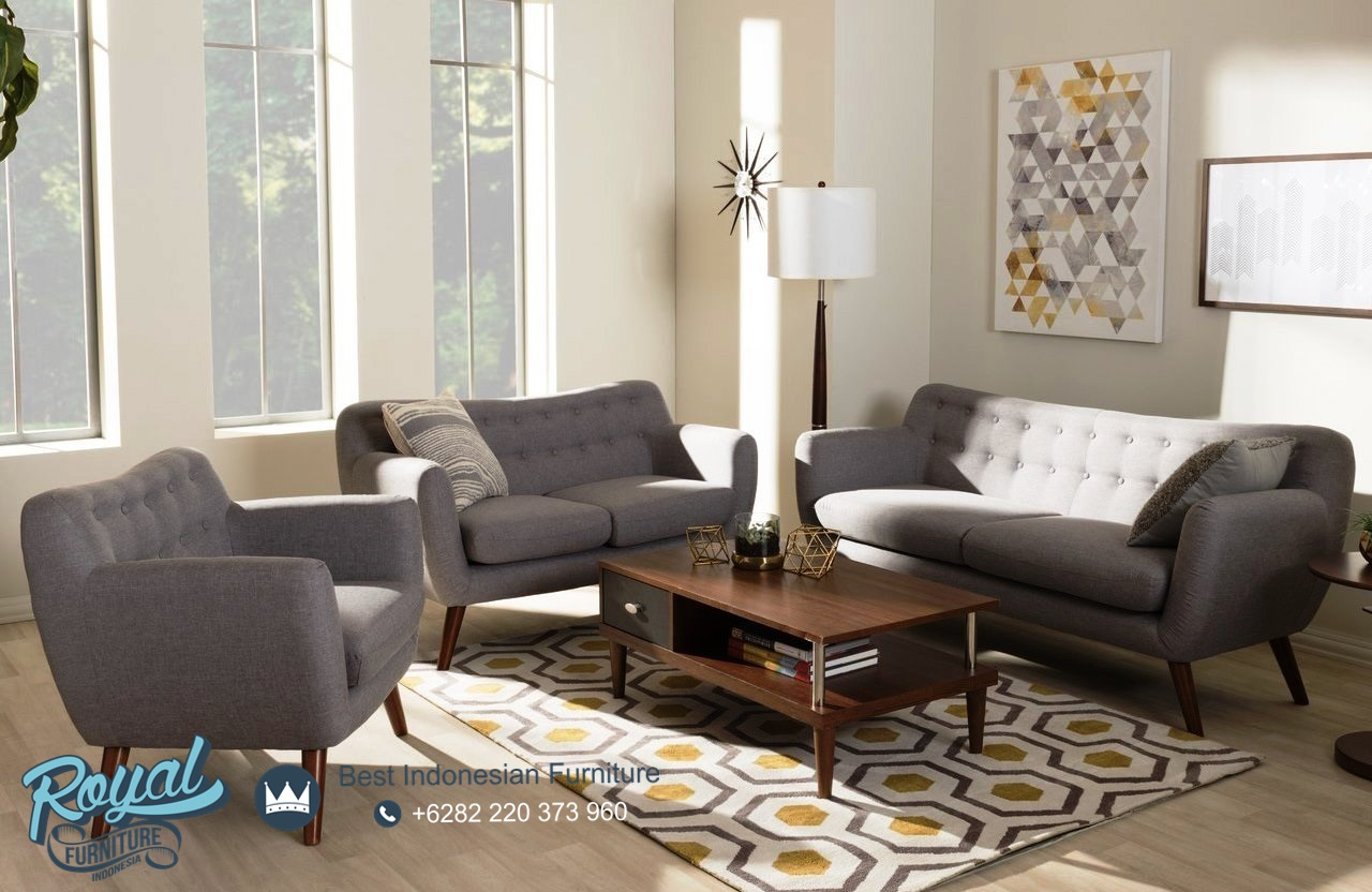Set Kursi Sofa Tamu Minimalis Retro Vintage Terbaru Royal