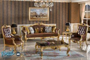 Sofa Ruang Tamu Mewah Gold Duco Ukiran Jepara