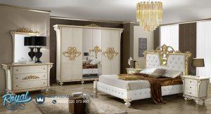 Kamar Tidur Putih Duco Mewah Modern Ukir Jepara Desiree
