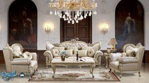 Sofa Ruang Tamu Mewah Modern Ukir Jepara Homey Living