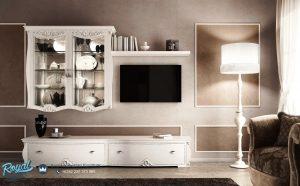 Bufet Tv Putih Duco Minimalis Mewah Modern Terbaru