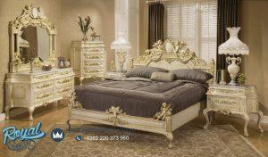 Set Tempat Tidur Terbaru Victorian Style Ukiran Patung Relief