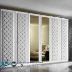 Lemari Wardrobe Minimalis 6 Pintu Modern Kayu Jepara
