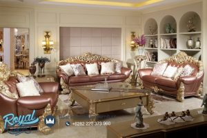 Set Sofa Tamu Klasik Waldorf Ukiran Jepara Terbaru