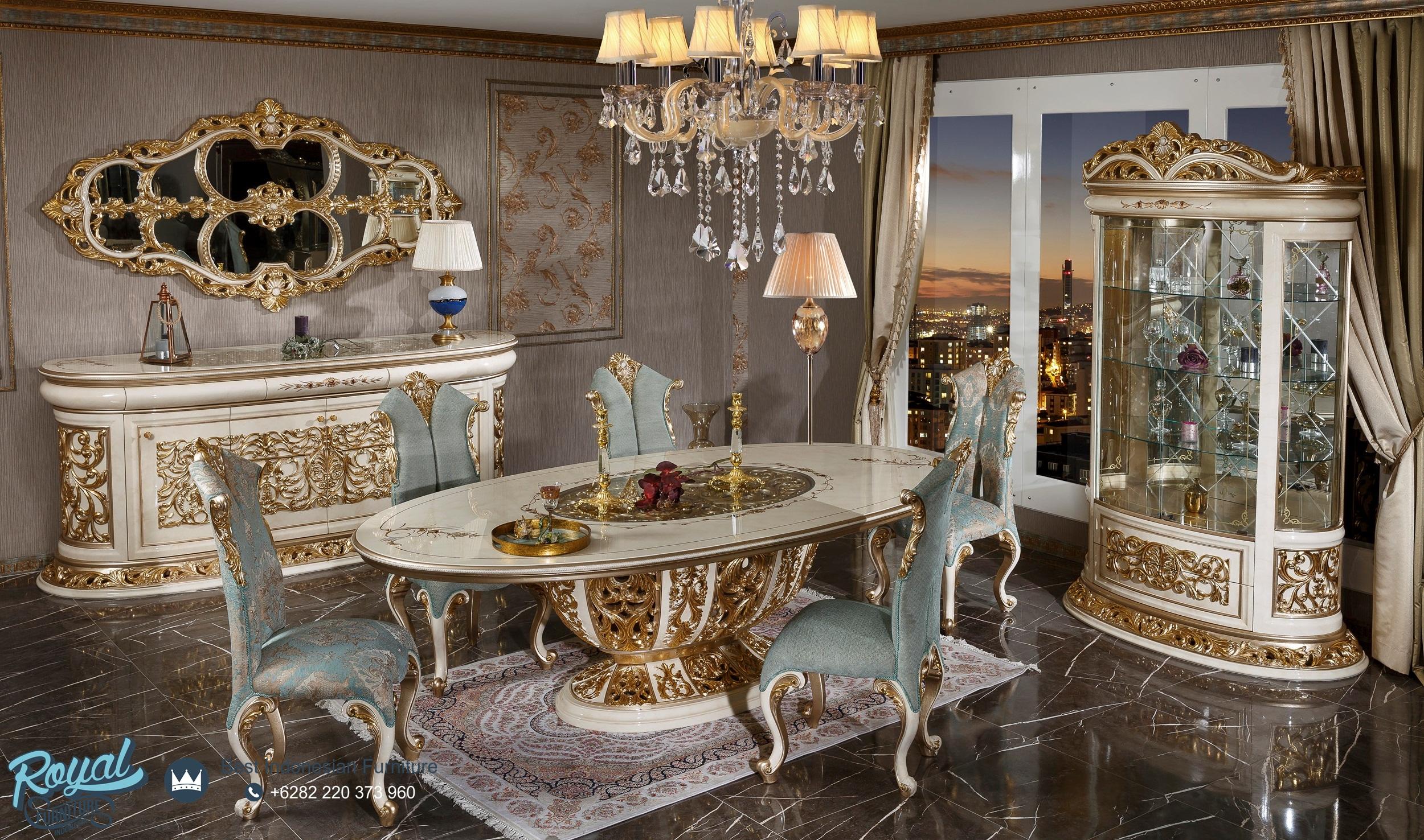 Set Meja Kursi Makan Jepara Klasik Turky Venezia