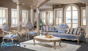 Set Sofa Tamu Mewah Klasik Gold Ukir Jepara Luxury