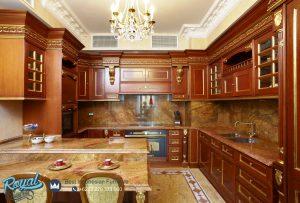 Kitchen Set Kayu Jati Ukiran Klasik Jepara Terbaru