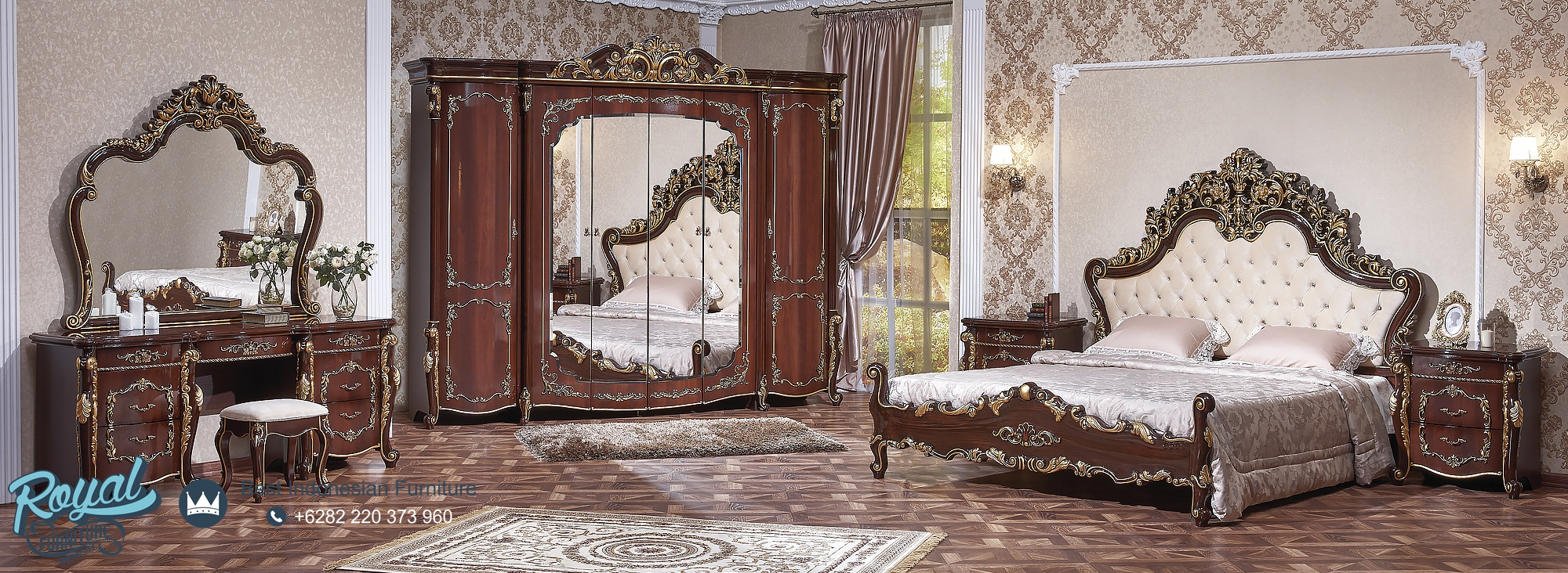 Set Kamar Tidur Mewah Klasik Kayu Jati Ukiran Jepara Veronica, tempat tidur mewah modern, tempat tidur mewah jepara, gambar kamar tidur mewah, desain kamar mewah elegan, tempat tidur mewah klasik, kamar tidur set elegan, kamar tidur mewah modern, tempat tidur mewah terbaru, model kamar set pengantin terbaru, harga tempat tidur mewah modern, kamar set minimalis mewah, kamar set pengantin jati jepara, set kamar tidur mewah, set kamar tidur klasik, set kamar tidur ukir jepara, kamar set jati jepara, toko furniture kamar tidur jepara, furniture store jepara, mebel jepara, royal furniture