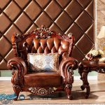 Model Kursi Sofa Tamu Kayu jati Jepara Terbaru Antique Luxury Italian Leather