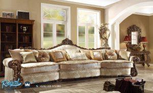 Sofa Ruang Keluarga Ukiran Jepara Klasik Jumbo Super Mewah Terbaru