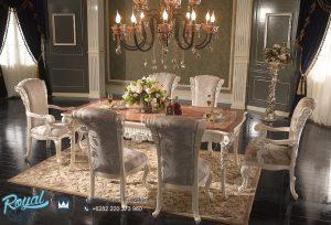 Model Set Meja Makan Mewah Terbaru Ukir Jepara Freedove Italian Furniture