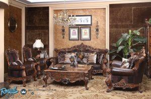 Set Kursi Sofa Tamu Klasik Mewah Terbaru Kayu Jati Ukir Jepara Eropa