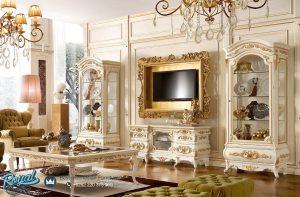 Desain Bufet Tv Mewah Ukir Klasik Jepara Terbaru Versailles