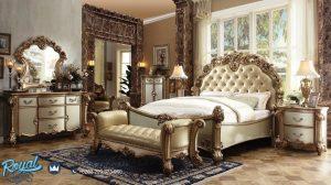 Desain Kamar Set Jepara Mewah Klasik Gold Duco Ukiran Eropan Terbaru
