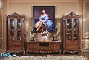 Bufet Tv Jati Ukir Jepara Klasik Mewah Antique Raphaels
