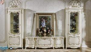 Desain Bufet Tv Mewah Terbaru Ukir Klasik Luxury Modern