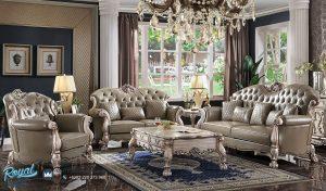 Desain Sofa Ruang Tamu Jepara Terbaru Mewah Klasik Carved Grey