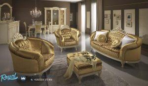 Sofa Tamu Ukir Jepara Terbaru Mewah Modern Gold Bludru Regina