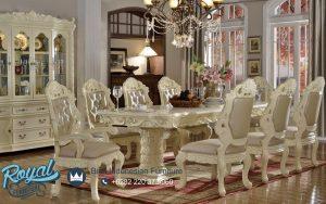 Desain Meja Makan Modern Putih Duco Camonic