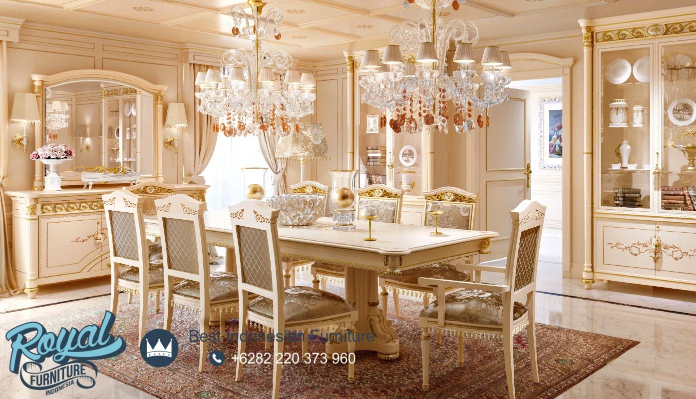 Meja Makan Klasik Modern Royal Italian, meja makan klasik mewah, meja makan klasik kayu jati, meja makan klasik modern, meja makan klasik minimalis, meja makan mewah modern, meja makan jati klasik, meja makan minimalis, jual set meja makan klasik, jual set meja makan jati minimalis, jual meja makan ukir jepara terbaru, meja makan mewah 4 kursi, meja makan mewah 6 kursi, meja makan mewah 8 kursi, harga meja makan mewah, meja makan klasik mewah, gambar meja makan mewah, meja makan elegan, meja makan modern putih duco, meja makan minimalis putih duco, model meja makan jati jepara terbaru, desain meja makan kayu jati, meja makan klasik 10 kursi, meja makan klasik 12 kursi, kursi makan klasik modern, meja makan kayu jati, jual meja makan jepara model terbaru 2020, royal furniture