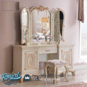 Meja Rias Mewah Modern Warna Putih Italian Luxury