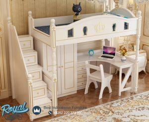 Model Tempat Tidur Anak Putih Queen Multifungsi