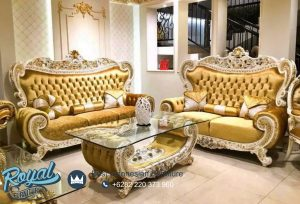 Sofa Tamu Klasik Eropa Luxury Gold