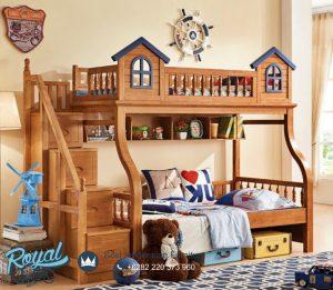 Tempat Tidur Anak Tingkat Susun Kayu Jati Playground