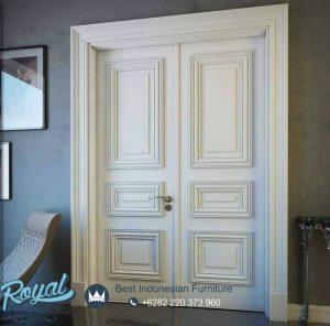 Desain Pintu Minimalis Putih Duco Modern