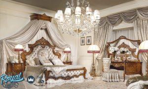 Desain Tempat Tidur Jati Klasik Mewah Davinci