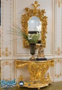 Meja Konsul Mewah Klasik Ukiran Jepara Gold Eropa Style