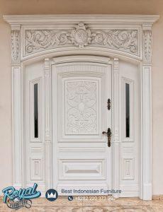 Pintu Klasik Modern Kayu Jepara Putih Wooden