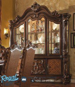 Lemari Hias Ukir Jati Klasik Eropa Versailles